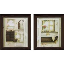 sink bathtub 2 piece framed painting print on canvas set on whispering wind 2 piece framed wall art set with bath laundry wall art