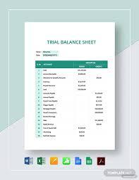 Microsoft Excel Balance Sheet Templates Trial Balance Sheet Template Word Excel Google Docs