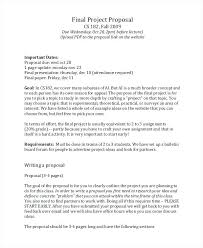 Free Final Project Proposal Ideas Examples Template For Resume ...