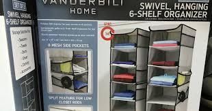 vanderbilt home swivel hanging 6 shelf closet organizer set of 2 costco weekender