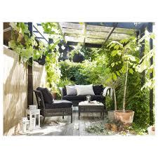 ikea patio furniture reviews. 2 Seat Sofa Outdoor Black Brown 160x80x73 Cm Kungsholmen 0458205 Ph132418 S5: Full Ikea Patio Furniture Reviews F