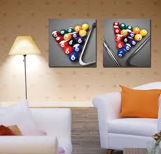 billiard metal wall art