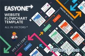 Photoshop Chart Template Easyone Website Flowchart Template 42406 Free Download