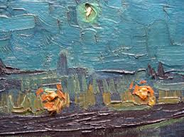 paris musee d orsay vincent van gogh 1888 starry night over the rhone 2 close up