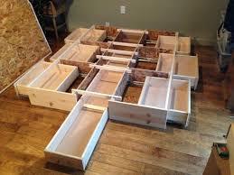 diy king bed frame with storage bed diy storage bed frame home