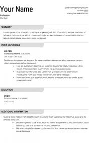 Easy Resume Enchanting Easy Resume Template Free Formatted Templates Example