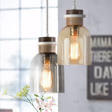 edison loft style industrial vintage led pendant light fixtures wood glass single hanging lamp retro home lighting droplight