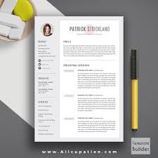 Modern Graphic Resume Template Creative Resume Template Word Nguonhangthoitrang Net