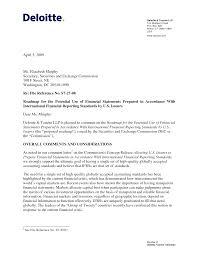 Deloitte Cover Letter Sample Cover Letter