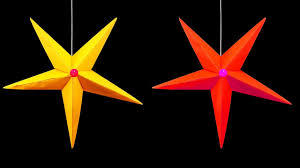 How To Make A Christmas Star With Chart Paper How To Make A Hanging Paper Star Christmas Crafts Hd