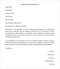Letter Of Employment Samples 15 Letter Of Employment Template Salary Slip
