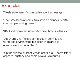academic writing i th ppt examples thesis statements for comparison contrast essays