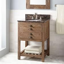 Pine Bathroom Cabinet 24 Benoist Reclaimed Wood Vanity For Undermount Sink Pine
