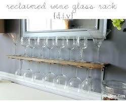 wine glass rack and shelf