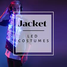 Tron Light Up Clothing Led Jacket Products Programmable Costume Glow In The