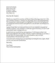 7 8 Followup Interview Letter Samples B10l Com