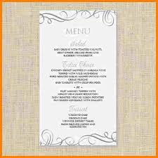 Sample Breakfast Menu Template Mesmerizing Free Wedding Menu Templates Printable Best Of 48 Breakfast Menu