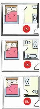 toilet door facing your bed bed feng shui good