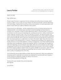 Part Time Cover Letters Sample Cover Letter For College Student Part Time Job Examples