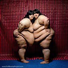 Obese women naked wrestling