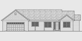 house front color elevation view for 10162 single level house plans one story house plans