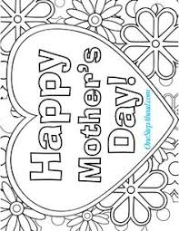 Small Picture Happy Mothers day coloring pages for kids printable free