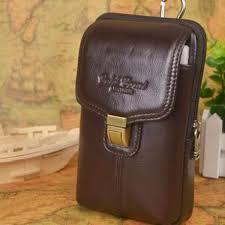 senarai harga magideal pu leather vertical men cell phone belt loop holster case waist bag mini sport business pouch clip pack purse wallet for apple iphone
