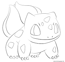 Small Picture 001 bulbasaur pokemon Coloring pages Printable