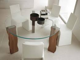 gl dining table with wood chairs shapeyourminds