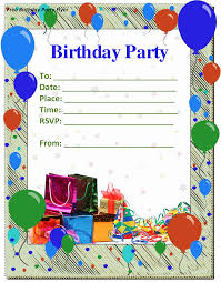 Boys Birthday Party Invitations Templates Free Birthday Invitation Templates For Word In 2019