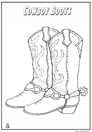 Cowboy Boots Coloring Pages 01 Boot Page Chronicles Network