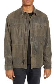 image of john varvatos star usa patchwork goat leather jacket
