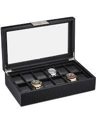 12 slot watch box for men glenor co