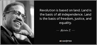 Malcolm X Quotes Enchanting Malcolm X Quote Revolution Is Based On Land Land Is The Basis Of