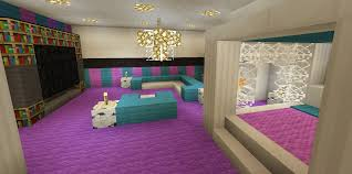 Amazing Interior Accents With Reference To Minecraft Bedroom Pink Girl  Purple Wallpaper Wall Design Canopy