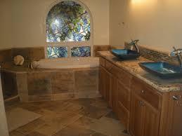 Best Bath Decor bathroom granite tiles : Custom Bathroom w/Granite Slab Counter, Cascading Faucets & Tile ...