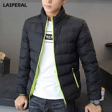 lasperal 2018 men fashion parka jacket mens thick jackets warm winter coat mens stand collar solid