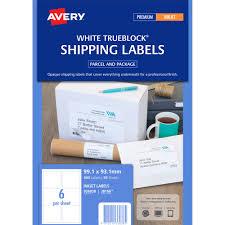 avery 6 up label template avery 936038 j8166 trueblock shipping labels inkjet 6up white pack
