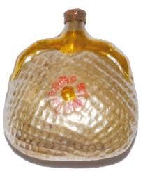 Lustige Kleine Handtasche Aus Glas Weihnachtsbaumschmuck In Silber Rosa Und Goldener Bemalung Ca 5