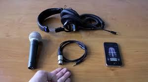 projive xlr professional mic on your iphone ipod or ipad