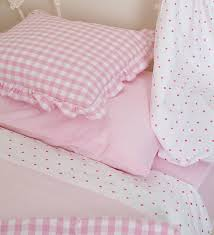 pink gingham cot bed duvet cover sweetgalas throughout cotbed sets design 14