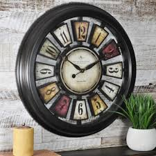 firstime 22 5 in round numeral plaques wall clock 10023 the home