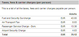 What Is The Fuel Surcharge Travel Stack Exchange