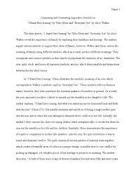 compare contrast essay short stories quilt
