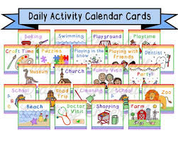 Childrens Calendar Activity Cards Pocket Chart Calendar Cards Instant Download Digital File