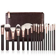 hot best deal 18 pcs rose gold makeup brush plete eye set tools powder blending brush