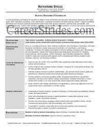 Career Advisor Resume Simple Professional School Counselor Resume School Guidance Counselor