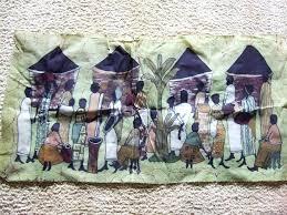 african wall tapestry village life batik textile art print cloth fabric wall hanging decor black art african wall tapestry wall hangings  on african cloth wall art with african wall tapestry tapestry regarding wall art with regard to