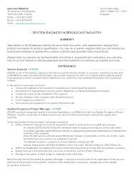 Senior Systems Engineer Resume Sample Find Help Examples And
