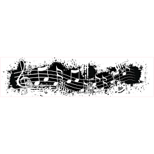 music note stamp grunge music note border stamp